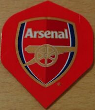 "3 Sets (3X3) Official ""Arsenal Football Club"" Standard Shaped Dart Flights"