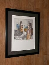 """J C Sagarra: tecniche - 20x16"""" cornice-firmato INCISIONI, BOTTIGLIA Wall Art, Bere Wall Art"""