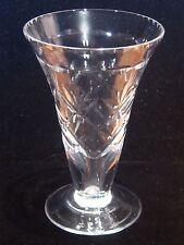 """VTG WEBB & CORBETT England Diamond Pattern Hand Cut Crystal Vase 4.5""""H Signed"""