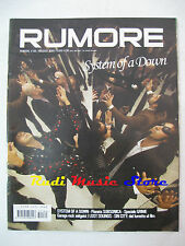 Rivista RUMORE 160/2005 System of A Down Subsonica Lost Sounds Black Lips NO* cd
