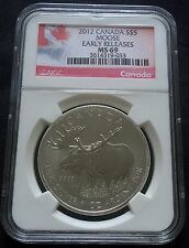 Canada 2012 S$5 Silver Moose Early Releases NGC MS69 ER