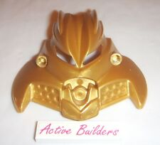 Lego Bionicle Mask BIG Ornament Olmak Pearl Gold 8994 Castle Monster Head Logo