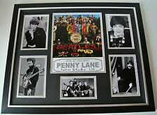 Sir Peter Blake SIGNED FRAMED Huge Photo Autograph display Beatles Music Art COA