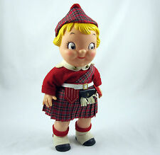 Campbells Soup Kid Doll in Scottish Kilt Uniform & Hat Vintage 1970's