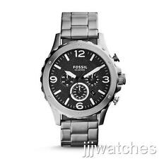 New Fossil Nate Chronograph Steel Dress Men Watch 50mm JR1468 $145