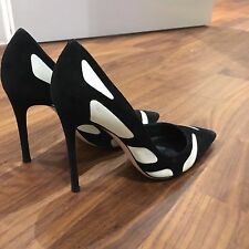 Gianvito Rossi Monochrome Pumps ,suede Black &white Leather Panels,37