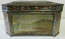 SCARCE HUNTLEY & PALMERS BISCUIT TIN 1883 LANDSCAPE TIN ENGLAND