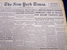 1948 FEB 27 NEW YORK TIMES NEWSPAPER U. S BRITAIN FRANCE CONDEMN COMMUNIST- NT57