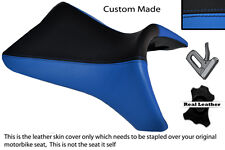 BLACK &LIGHT BLUE CUSTOM FITS BUELL 1125 R CR XB 12 R XB 9 R FRONT SEAT COVER