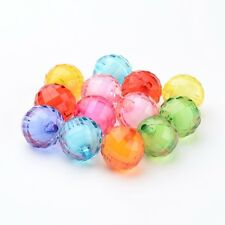 20pcs Mixed Color Chunky Bubblegum Beads Acrylic Bead in Bead X-TACR-S086-20mm-M
