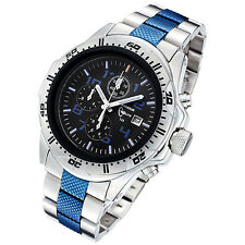 Armourlite Men's Scratch Resistant Police Blue Edition H3 Tritium Watch AL77