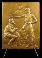 Médaille Allégorie mutualité entraide ouvrier forgeron black-smith Coudray Medal