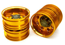 ALL TAMIYA 1/14 TRACTOR TRAILER REAR WHEEL 12MM HEX INTEGY C27023GOLD