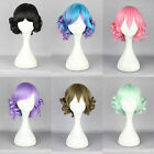 Lolita short Long Curly Wavy Hair Full Wigs Harajuku Anime Cosplay Party Wig WX