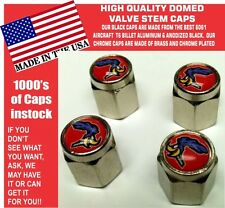 Domed Red Plymouth Road Runner Superbird Super Bird  Valve Stem Caps Mopar