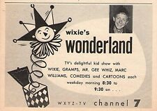 1956 Detroit Tv Guide~MARV WELCH~WIXIE'S WONDERLAND~Grand Ole Opry~Jac LeGoff