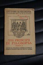 Principii di filosofia - Renato Cartesio - Parte I - ed. SEI 1927 - FILOSOFIA