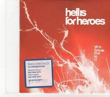 (FX98) Hell Is For Heroes, You Drove Me To It - 2002 DJ CD
