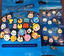 Disney Tsum Tsum Series 1 Mystery 5 Pin Booster Set Bag Pack NEW SEALED PIN
