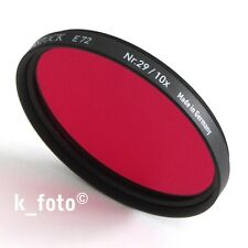 Rodenstock Rotfilter 72mm # 29 * Dunkelrot-Filter 72 * dark red