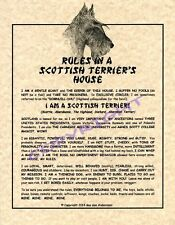Rules In A Scottish Terrier's House