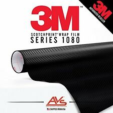 3M Di-Noc Carbon Fiber Matte Black Vinyl Car Wrap Film Sheet Roll - CA421 - 1ft