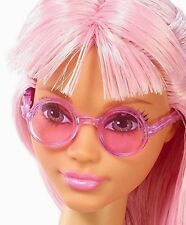 2017 BARBIE FASHIONISTAS DAISY POP DOLL CLEAR PINK ROUND FRAME SUNGLASSES ONLY