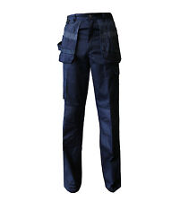 New Mens Heavy Duty Cargo Work Wear Contrast Trousers Tools Pockets Knee Pads