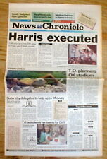 1992 newspaper ROBERT ALTON HARRIS EXECUTED California Gas Chamber-1st in 25 yrs