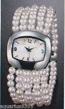Pearlesque Multi Strand Stretch Watch Avon