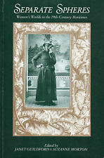 Separate Spheres: WOMEN'S WORLDS IN THE 19th CENTURY MARITIMES – Victorian Era