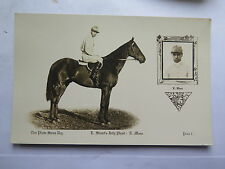 POSTCARD HORSE RACING DON PHOTO SERIES STUARTS HORSE JOLLY FHAST c1920s E MOON