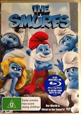 The Smurfs  (DVD, R4, 2012, Family Movie, Free Postage)