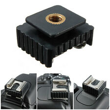 Standard 1/4'' Screw Hole Cold Foot to Hot Shoe Mount Adapter For Canon Flash