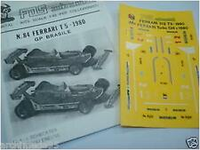 FERRARI 126C TURBO 1980 N.1.2  DECALS 1/43