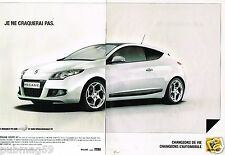 Publicité advertising 2010 (2 pages) Renault megane Coupé GT