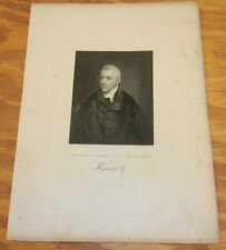 1844 Antique Print/EARL OF HARROWBY, DUDLEY RYDER