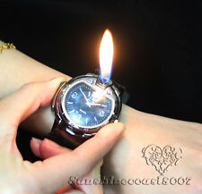 Novelty Fashion Mens Wristwatch Refillable Butane Gas Cigarette Cigar Lighters