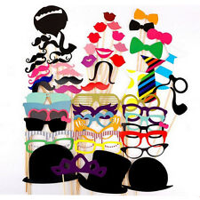 58pcs Photo Booth Props Prop Mustache On A Stick Birthday Wedding Parties Masks