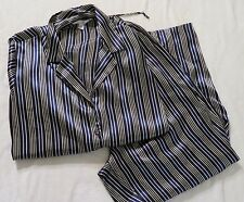 Sensual Cacique Womens Pajama Set Long Sleeve Striped Polyester Plus Size 22/24