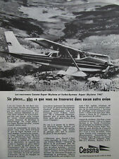 1967 PUB AVION CESSNA AIRCRAFT CESSNA SUPER SKYLANE TURBO SYSTEM FRENCH AD