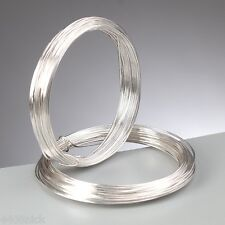 0.6 mm (22 gauge) Silver Plated Craft / Jewellery / Florist Wire  10 metres
