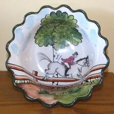 C. E. Corey Perfect Day Art Pottery Bowl Equestrian Horse Jumping