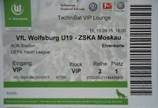 VIP TICKET UEFA Youth League 2015/16 VfL Wolfsburg - ZSKA Moskau