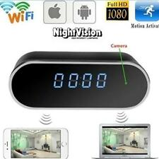 Mini WIFI 1080P Night Vision HD Spy Hidden Camera Clock P2P Motion Detection PK