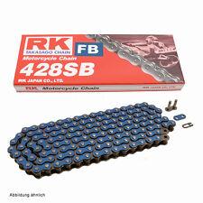 Catena Del Motociclo BLU RK FB428SB con 134 Rulli e Chiusura a clip, aperta