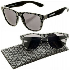 Batman DC Comics Patterned Grey Black Sunglasses w/ Fabric Case Pouch LICENSED