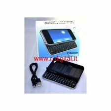 MINI TASTIERA per IPHONE 4 4G SLIDE CUSTODIA SCORREVOLE BLUETOOTH QWERTY USB