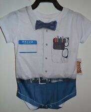 One Piece Romper Jumper Size 6 Months Costume Bow Tie Outfit Hello Name Tag
