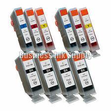 10 Ink Cartridge for Canon 4 PGI-5 BK 6 CLI-8 Color CMY